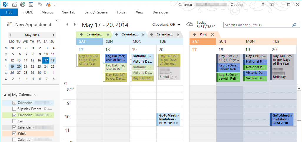 Blank Calendar In Outlook : Outlook printable calendar template