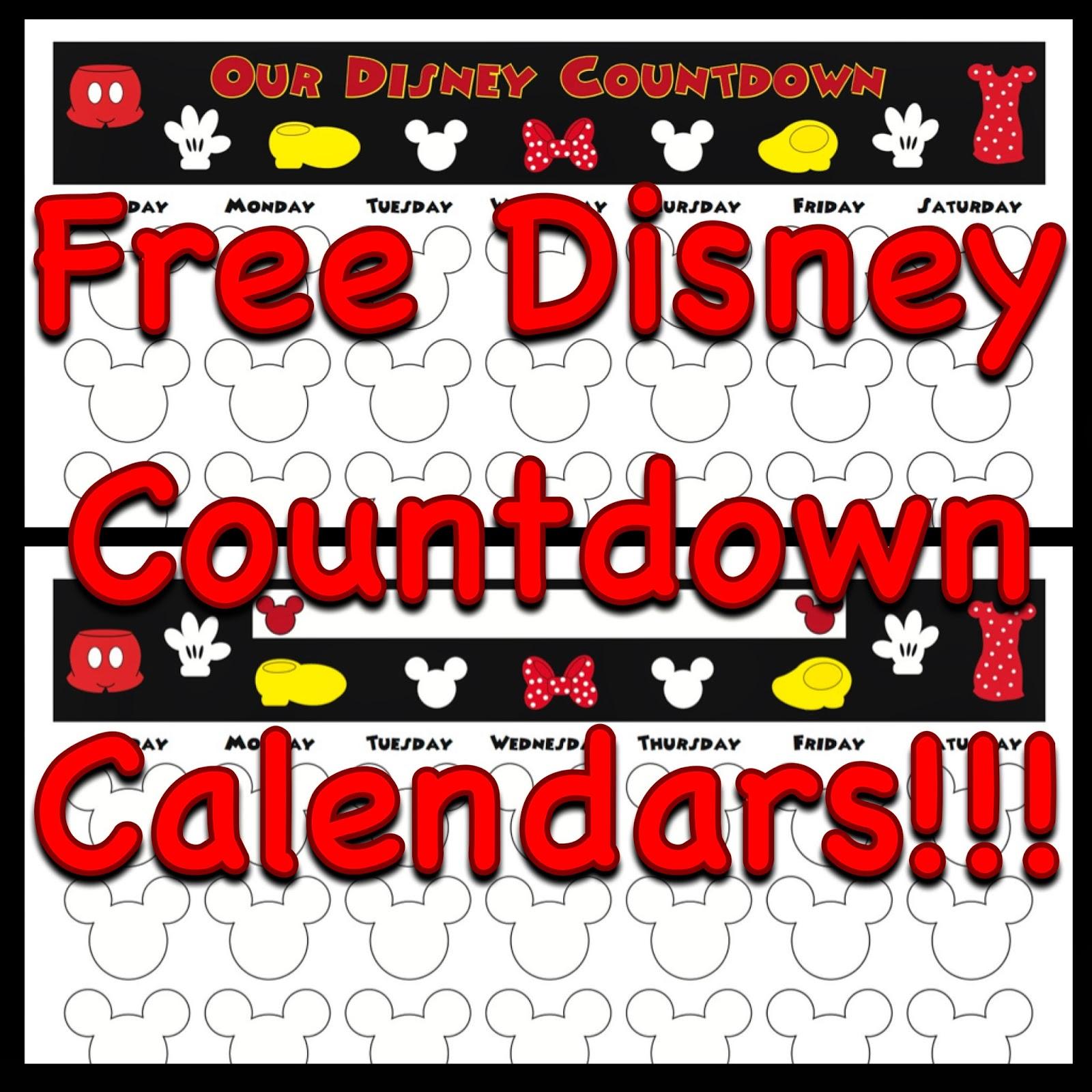 Printable Vacation Countdown Calendar 2016 | Calendar Template 2017