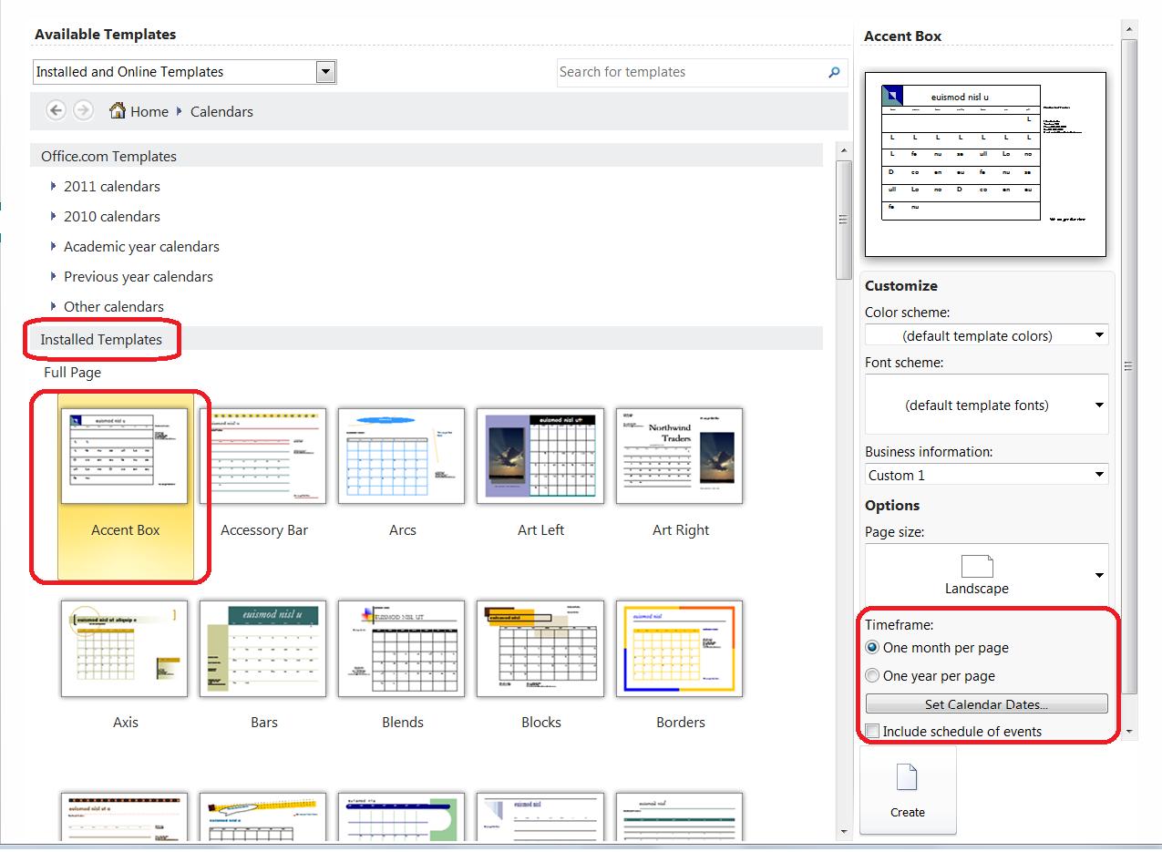 Calendar Templates Publisher : Publisher calendar template