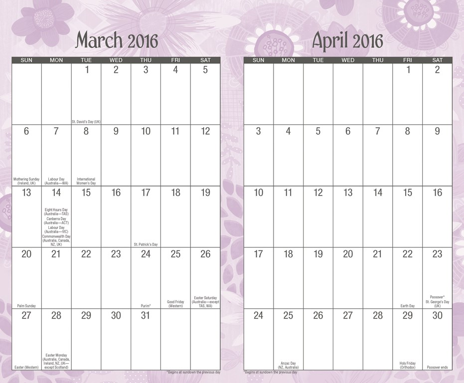 calendar template for publisher