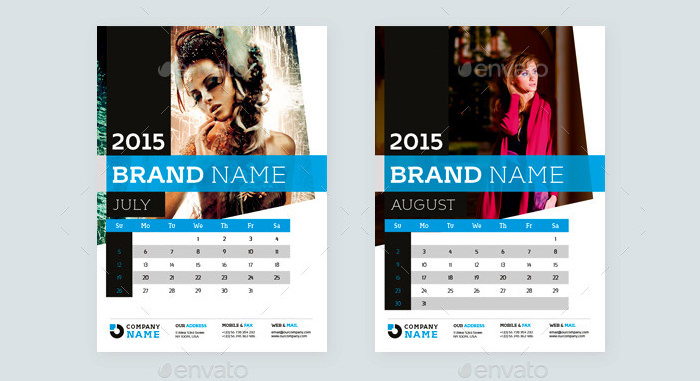 Creative Calendar Design Template 2015 : Samples of calendar design template