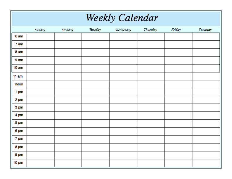 17 Best ideas about Weekly Calendar Template on Pinterest | Weekly