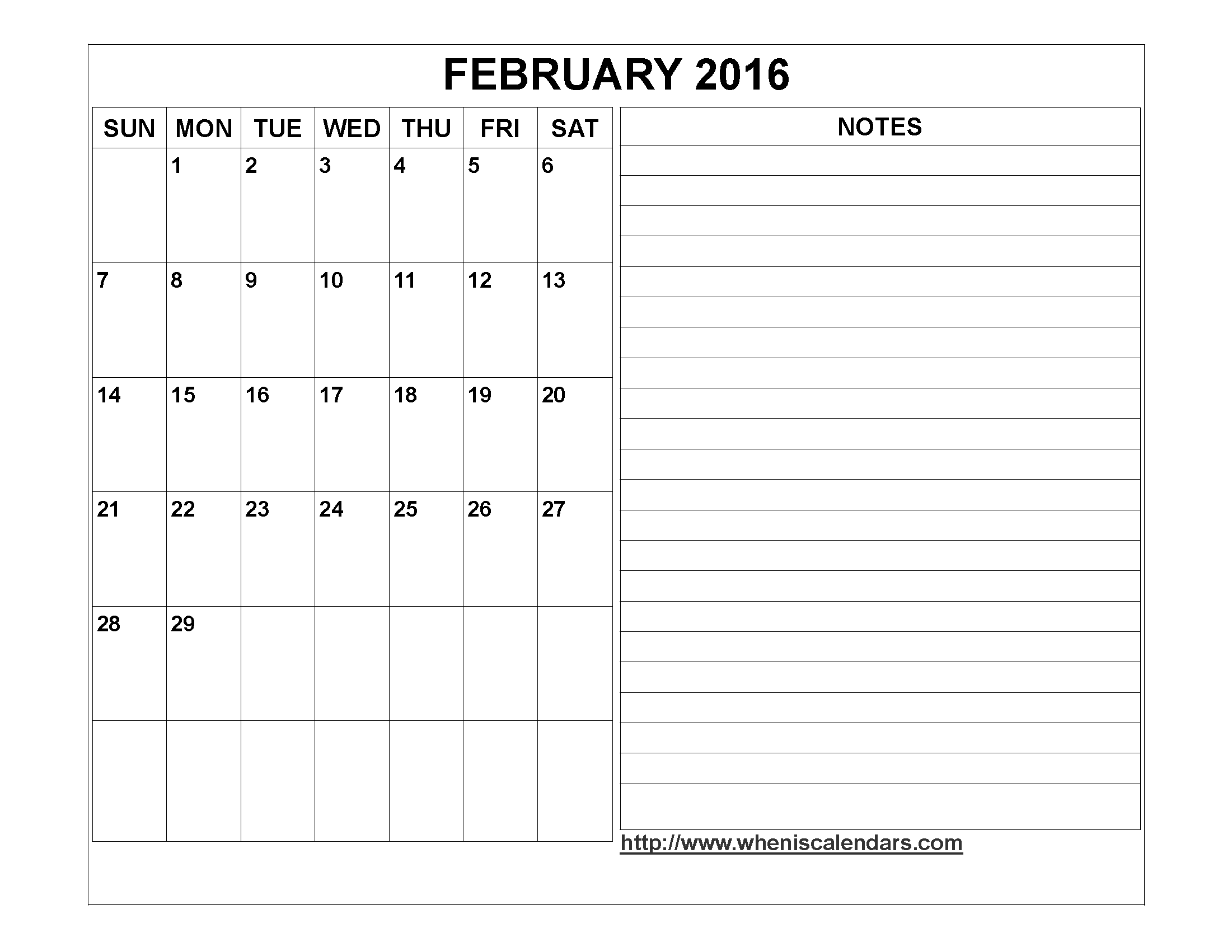 Calendar Templates With Notes : Calendar template with notes section