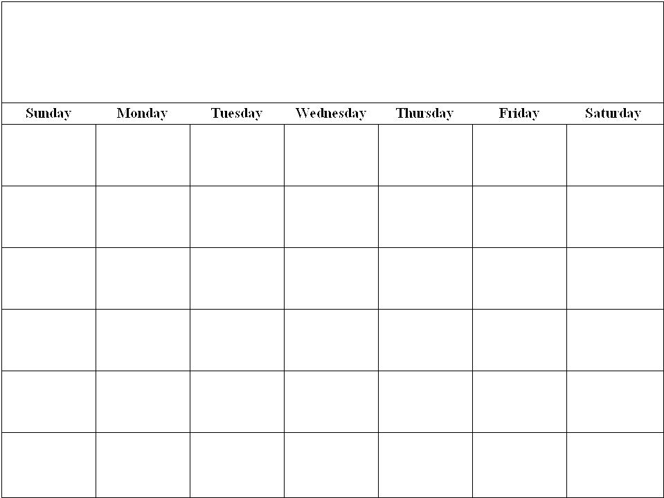 8 X 11 Blank Printable Calendar Calendar Template 2017