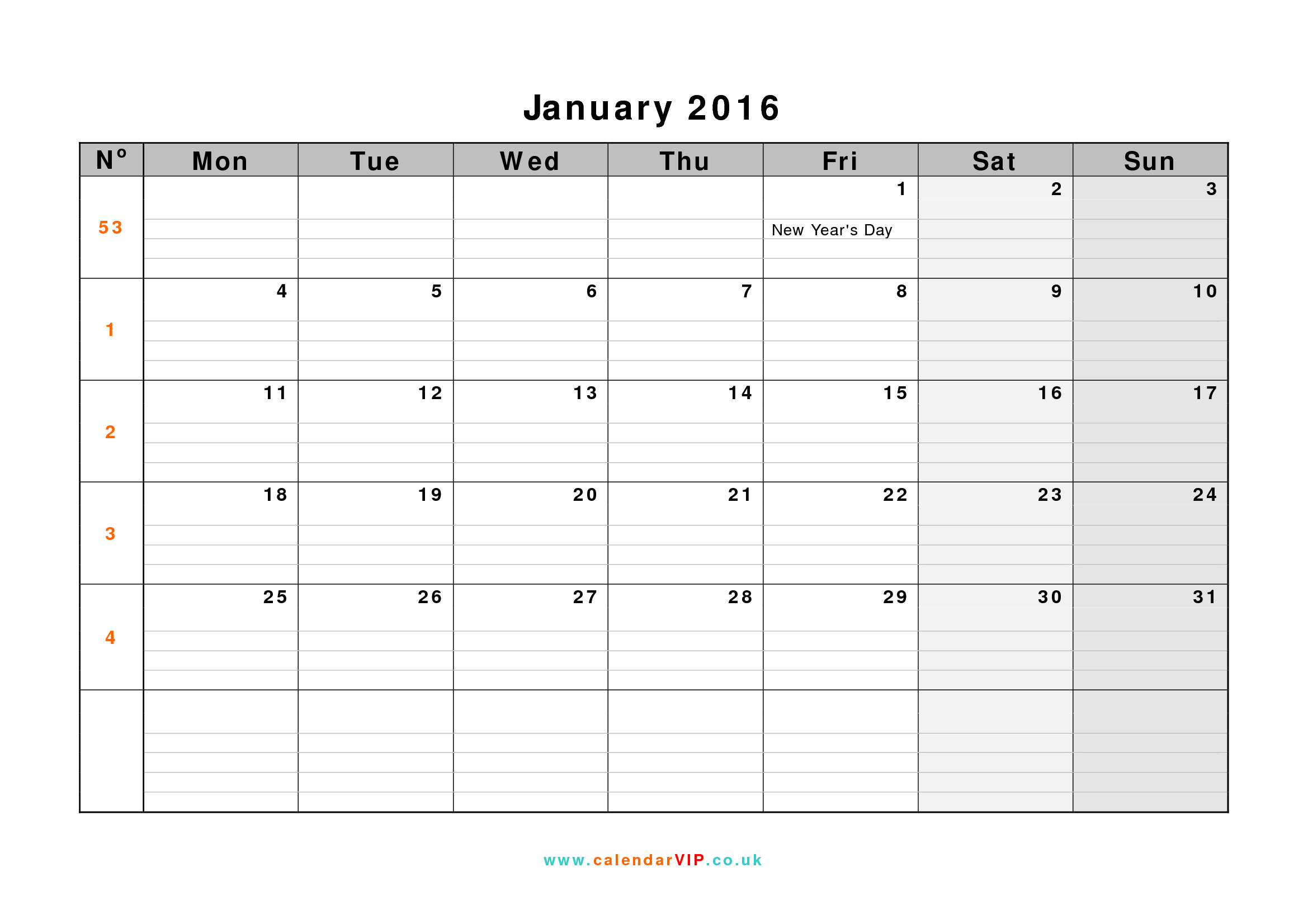 Calendar 2016 UK Free Yearly Calendar Templates for UK