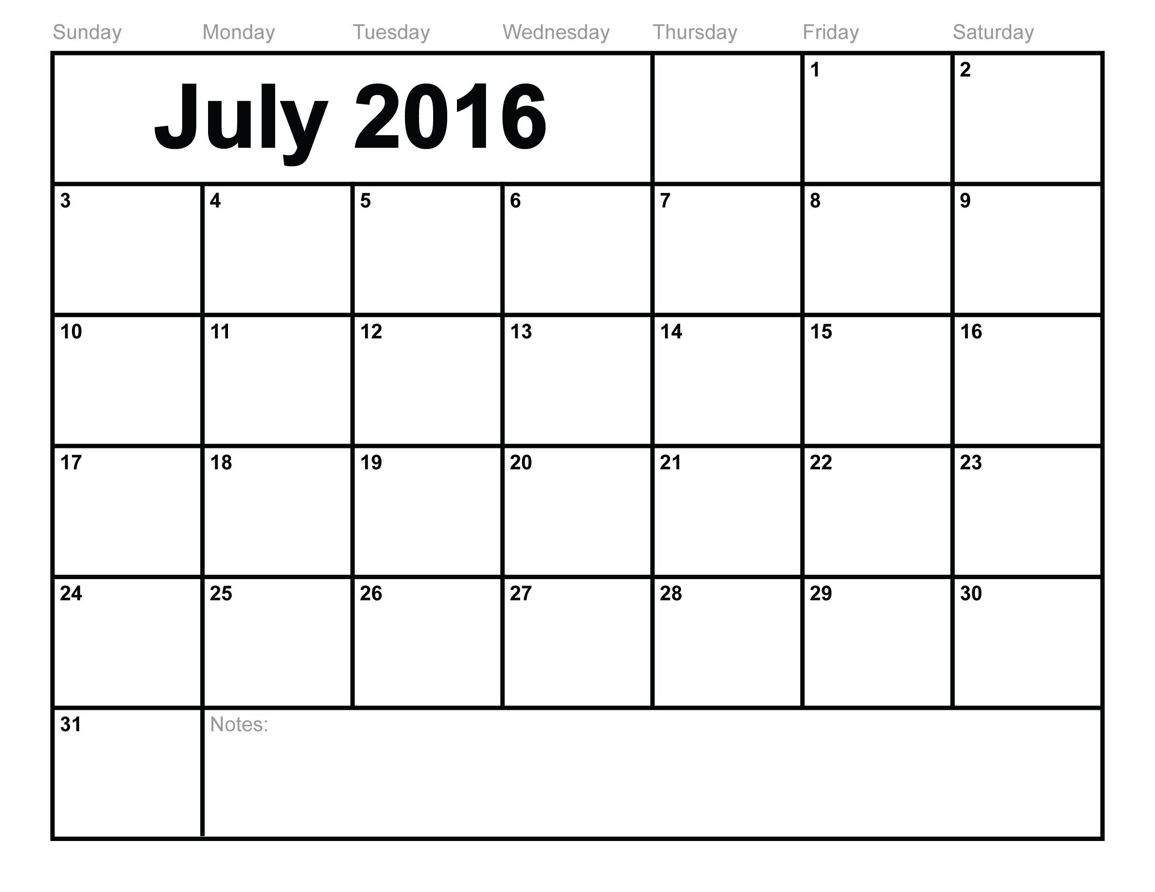 July 2016 Calendar Tamil | July Calendar Printable Template
