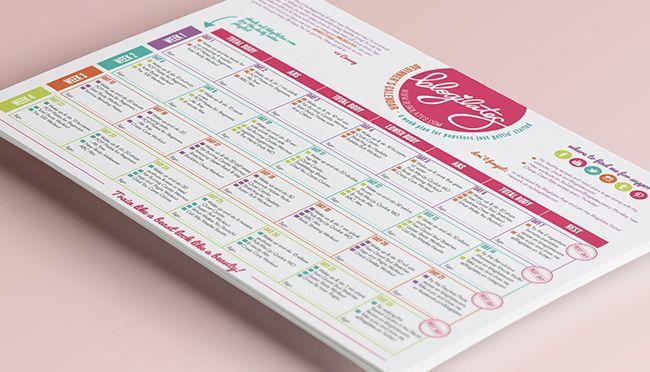 Blogilates Beginners Calendar Redesign #blogilates #workout
