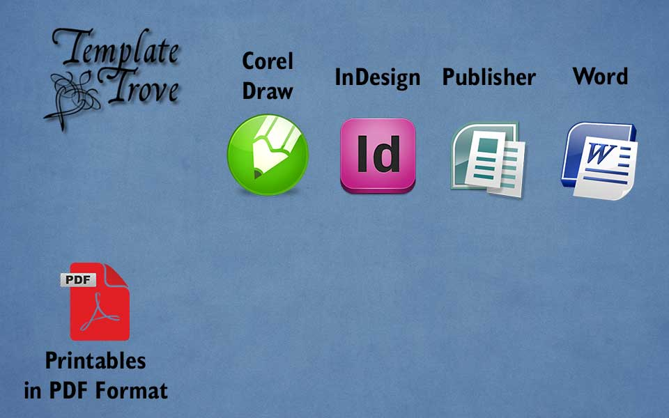 Template Trove: calendars, templates, certificates, free