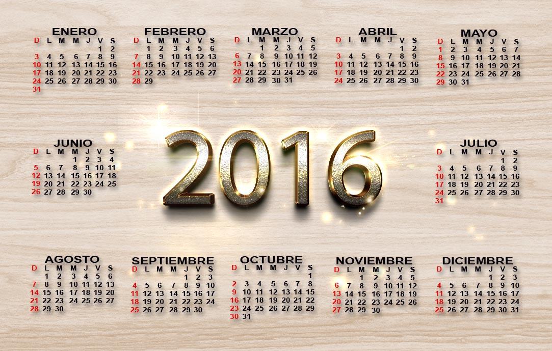 2016 Modelo de calendário | Baixar vetores grátis