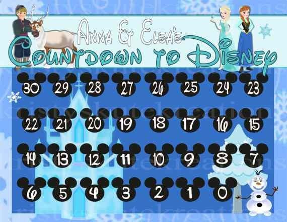 Personalized Printable Frozen 2016 New Year Monthly Calendar