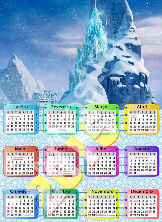 30 best images about 2015 New Year Frozen Printable Monthly