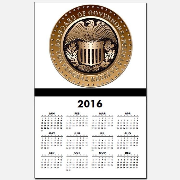 Federal Reserve Calendars   Federal Reserve Calendar Designs