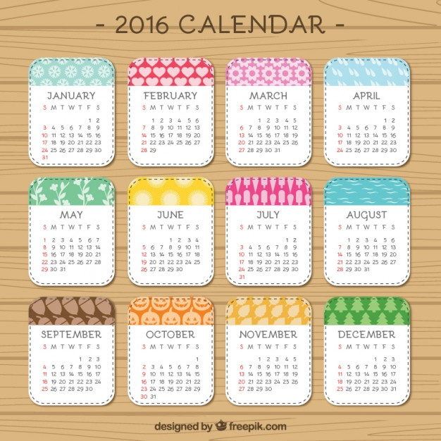 FREE PRINTABLE 2016 CALENDARS Oh So Lovely Blog