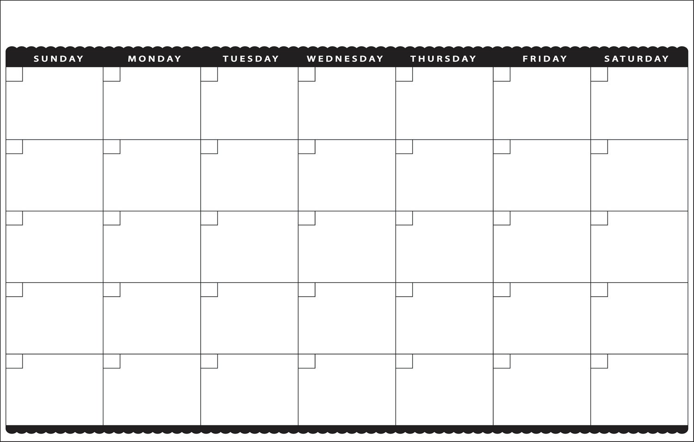 Printable 11×17 Monthly Calendar | Calendar Template 2018