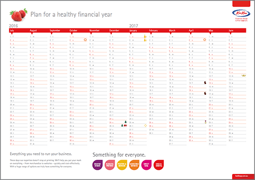 Free 2016 2017 Financial Year Calendar | Kwik Kopy