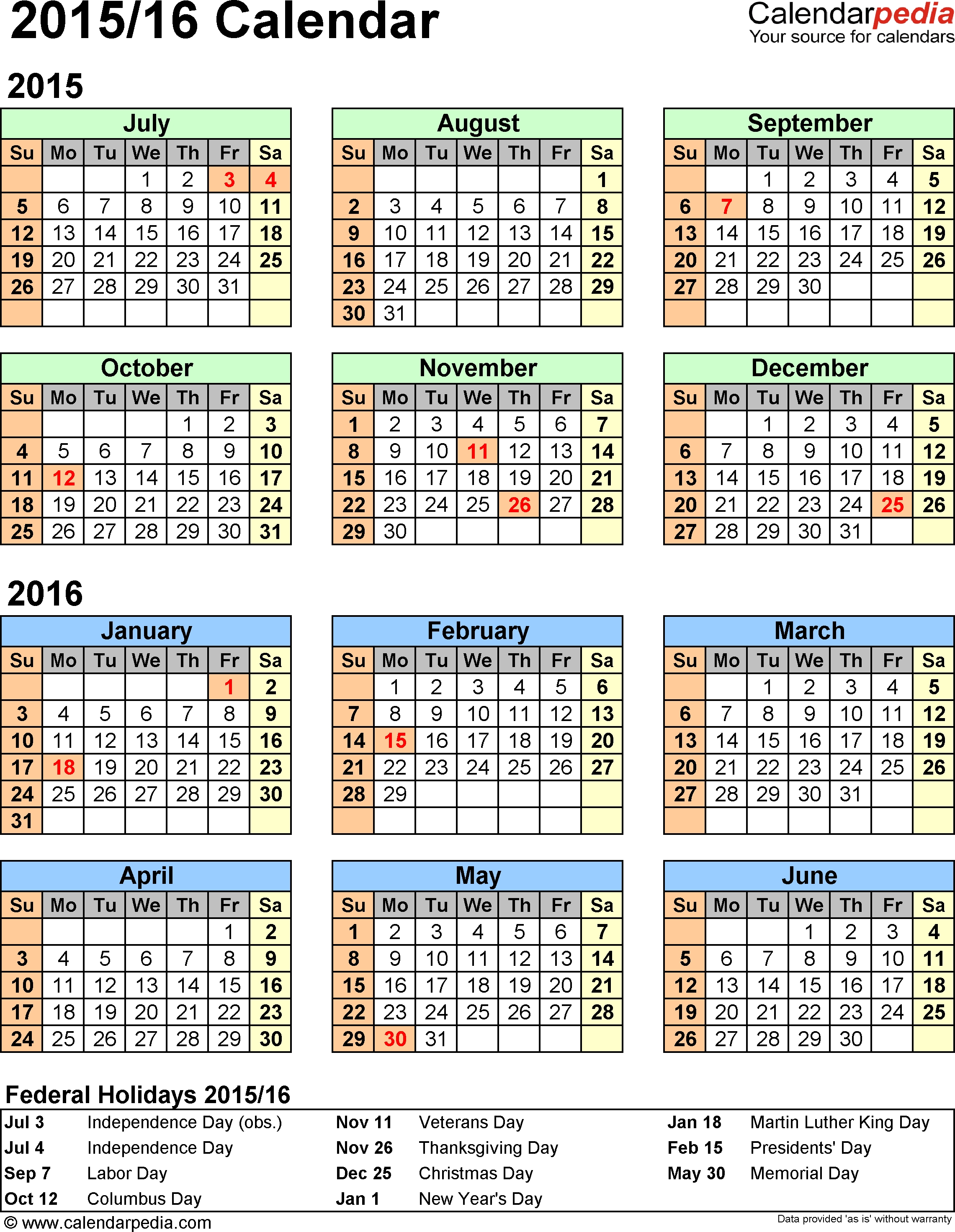 Printable 2016 2017 financial year calendar kwik kopy for Australian calendar template 2015