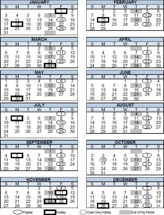 San Diego County Probation Officer's Association Calendar 2016