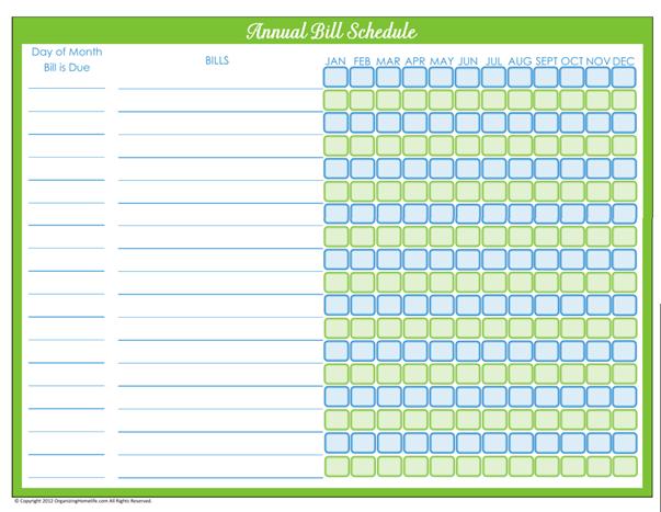 Printable Bill Calendar Academic Calendar