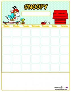 Calendar, Snoopy, Calendars Free Printable Ideas from Family