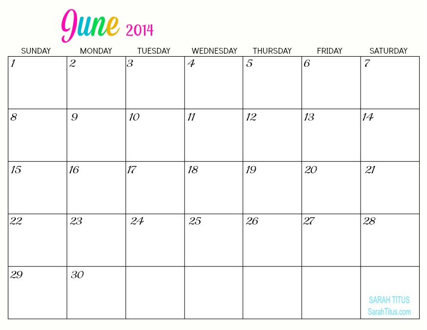 Free Printable Monthly Calendar gameshacksfree