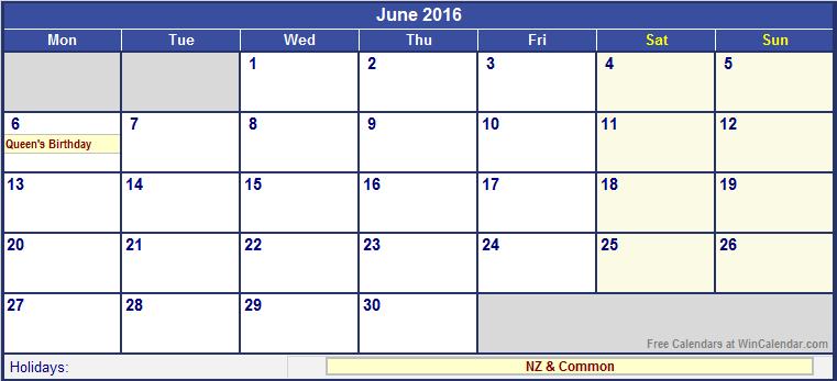 2016 Wincalendar | Blank Calendar Design 2017