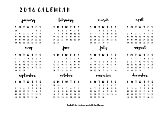 Calendar Tumblr Printable : Calendar template tumblr