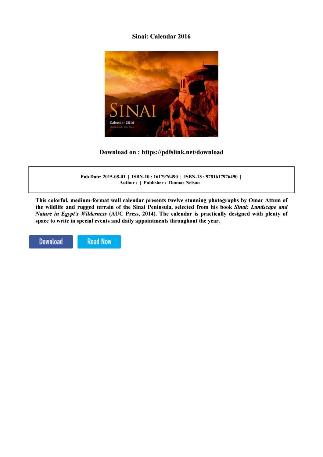 Sinai: calendar 2016 by adron barnum issuu
