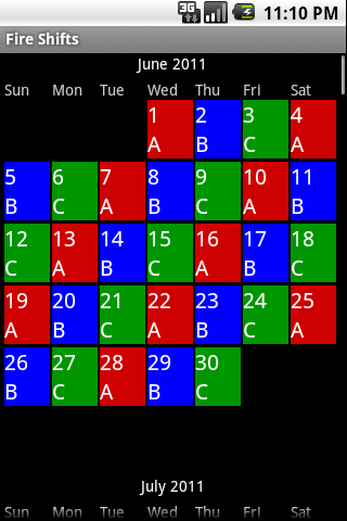 Fire Shifts | Fire Fighter and EMS calendars for Android & iOS