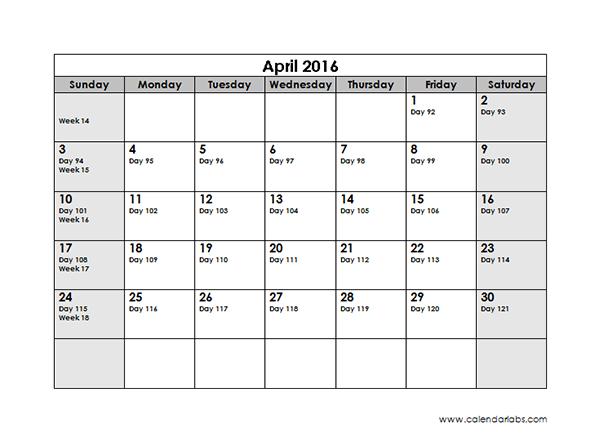 2016 Monthly Julian Calendar 01L Free Printable Templates