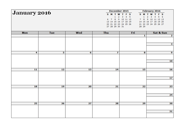2016 Three Monthly Calendar Template Free Printable Templates