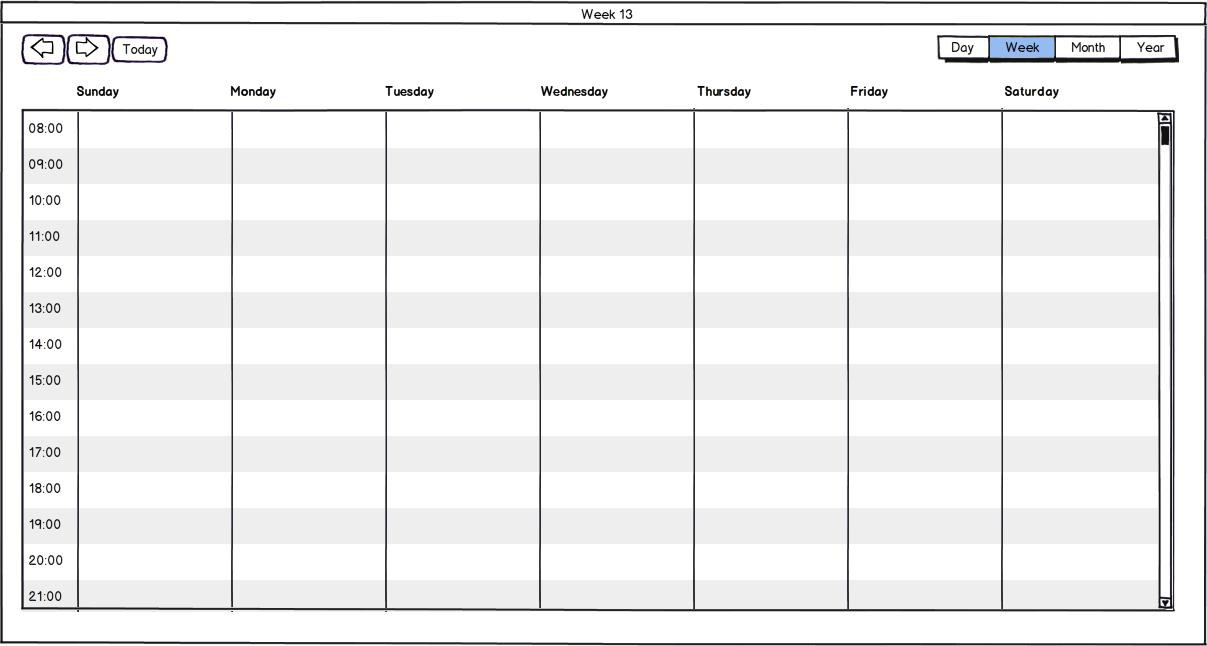 Monthly Calendar By Week : Week calendar template