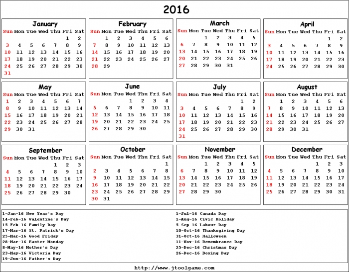 Calendars 2016 Printable Aol | Calendar Template 2017
