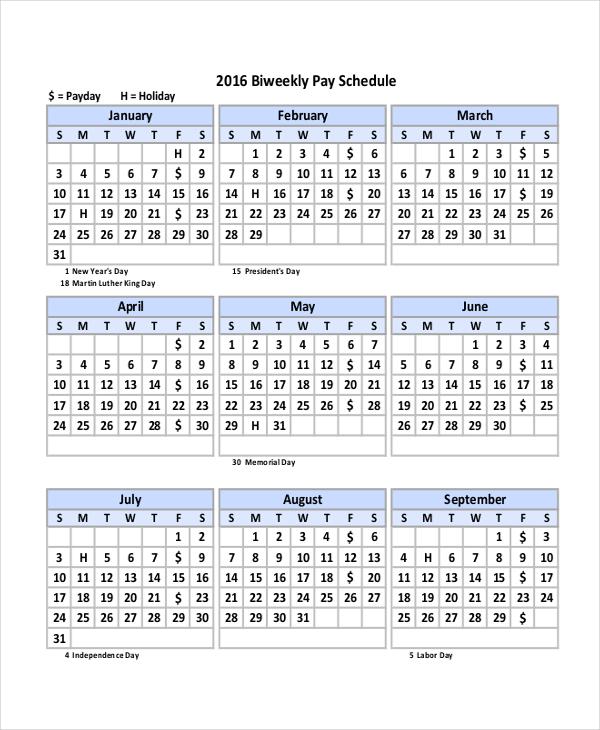 bi weekly payroll calendar template calendar template 2018. Black Bedroom Furniture Sets. Home Design Ideas