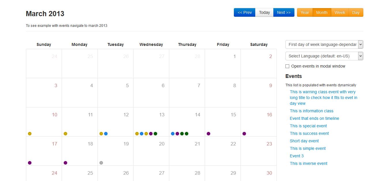 Bootstrap Calendar   Drupal.org
