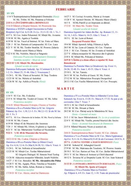 Calendar Ortodox Pe Vechi 2016 | Printable Calendar Template 2016
