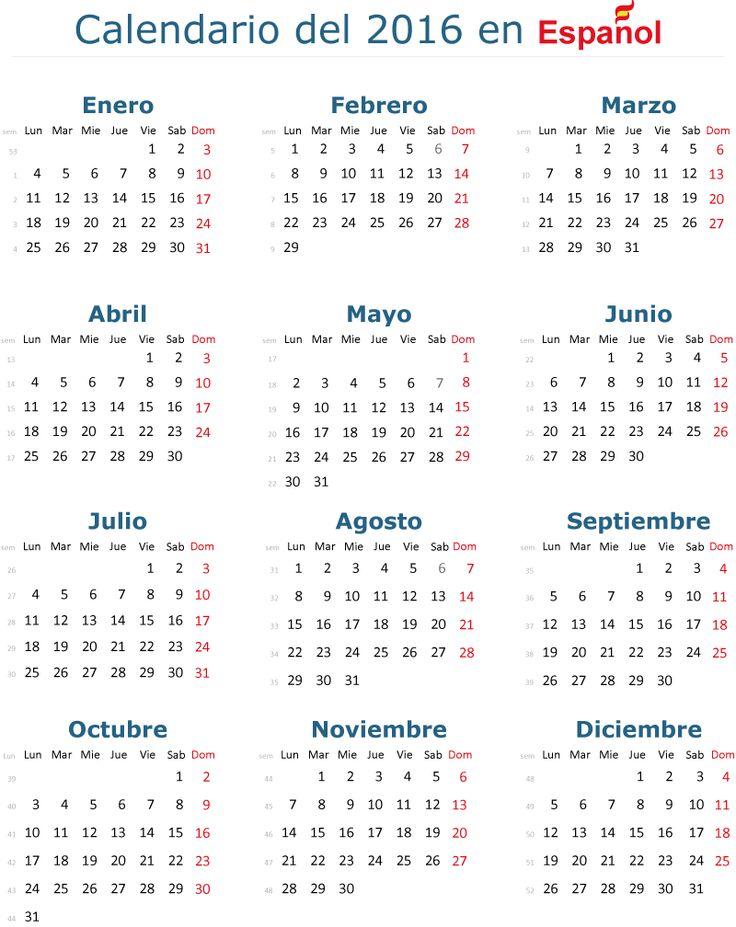 25+ best ideas about Calendario 2016 Editable on Pinterest
