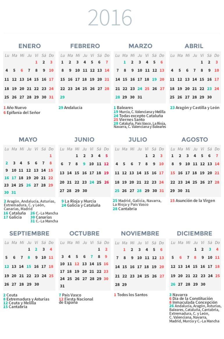 Calendario laboral 2016 | Economía | Cadena SER
