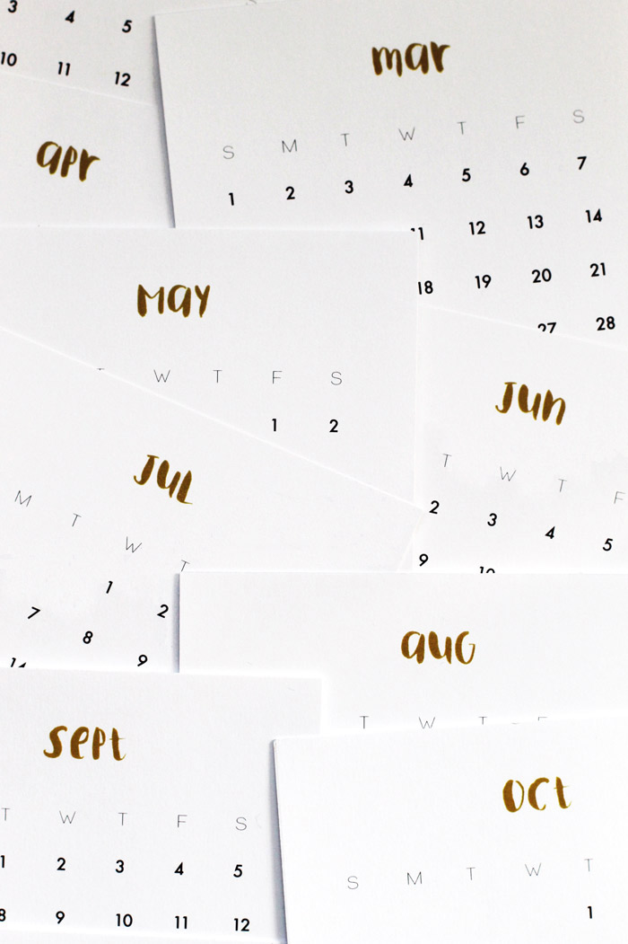 2016 Calendar Size A5 Printable Calendar Template 2016 | PC 4 Download