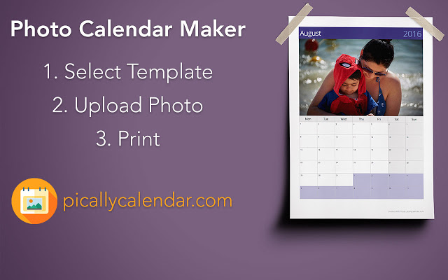 Pically Photo Calendar Creator Chrome Web Store