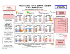 Fresno Unified Calendar Academic Calendar