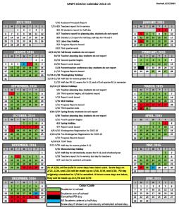 Mnps Calendar 2015 2016 Gallery