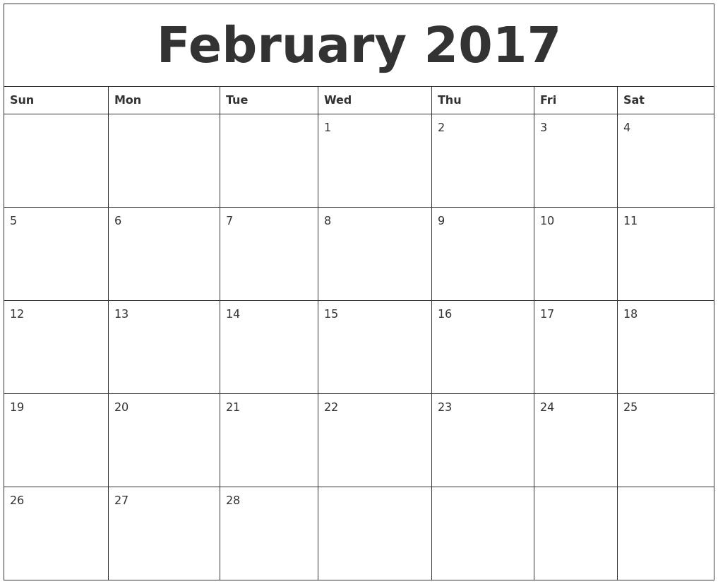 Pdf Calendar Fillable | Calendar Template 2017
