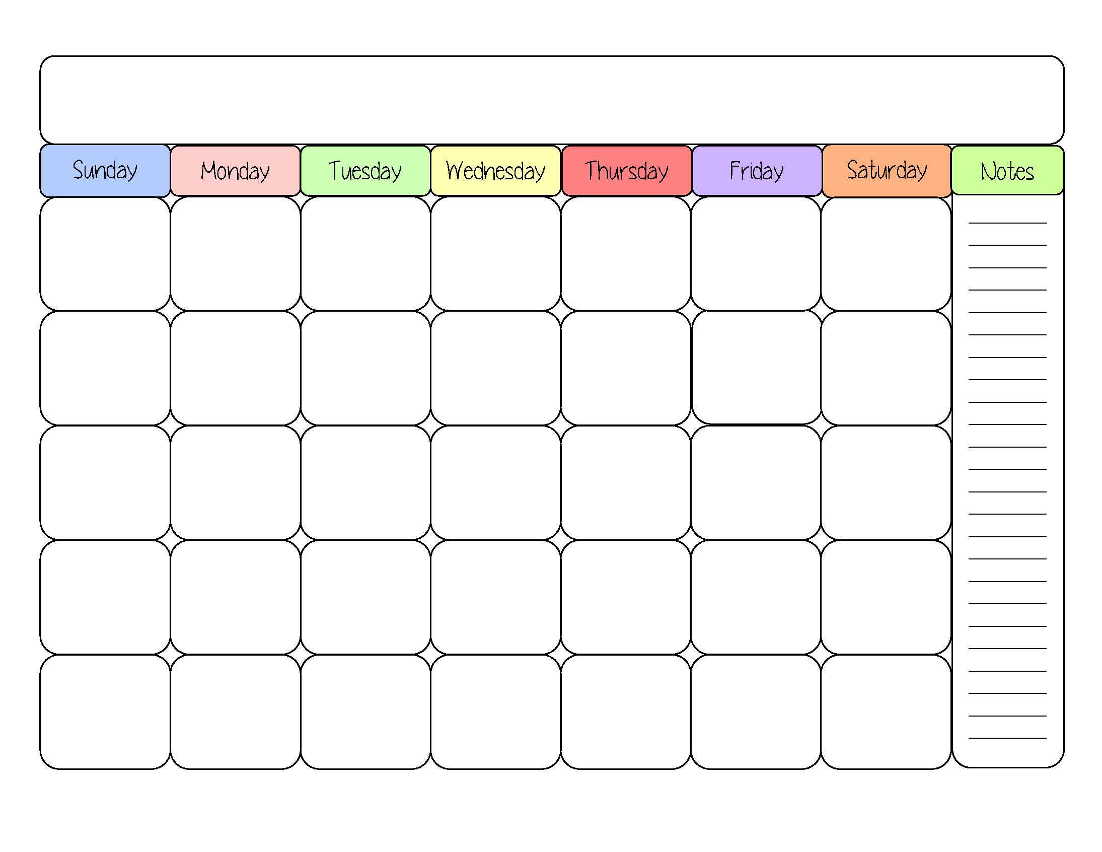 cute blank calendar templates | Sight word | Pinterest | Calendar
