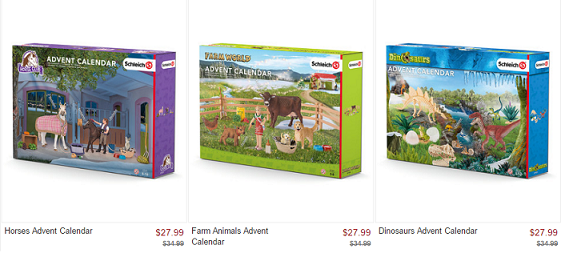 NEW 2016 Schleich Advent Calendars for $27.99 (Reg $34.99