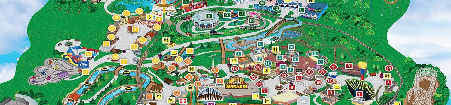 Park Map | Six Flags Over Georgia