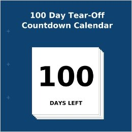 Amazon.com: 100 Day Tear Off Countdown Calendar (9781922217547
