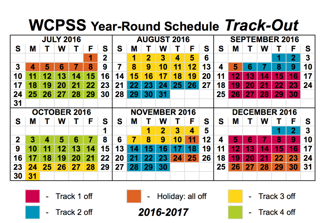 Year Round Calendar Template : Wake county track out calendar for