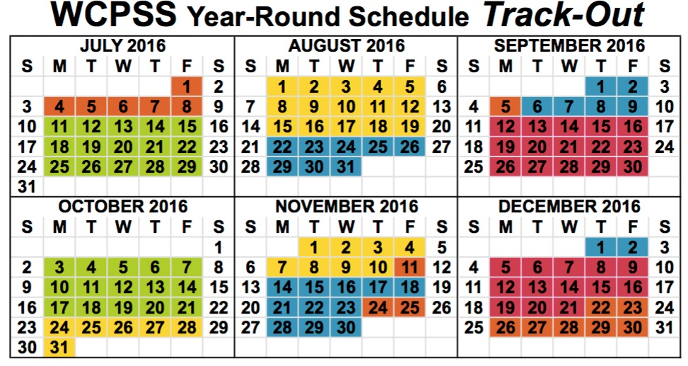 Wake County Public Schools Year Round Calendar (2016 2017) Camp