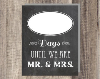 Wedding count down | Etsy