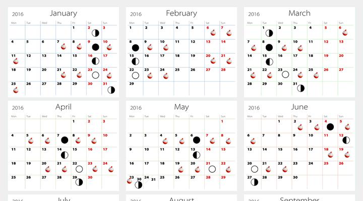 Fishing Moon Phase Calendar | Blank Calendar Design 2017